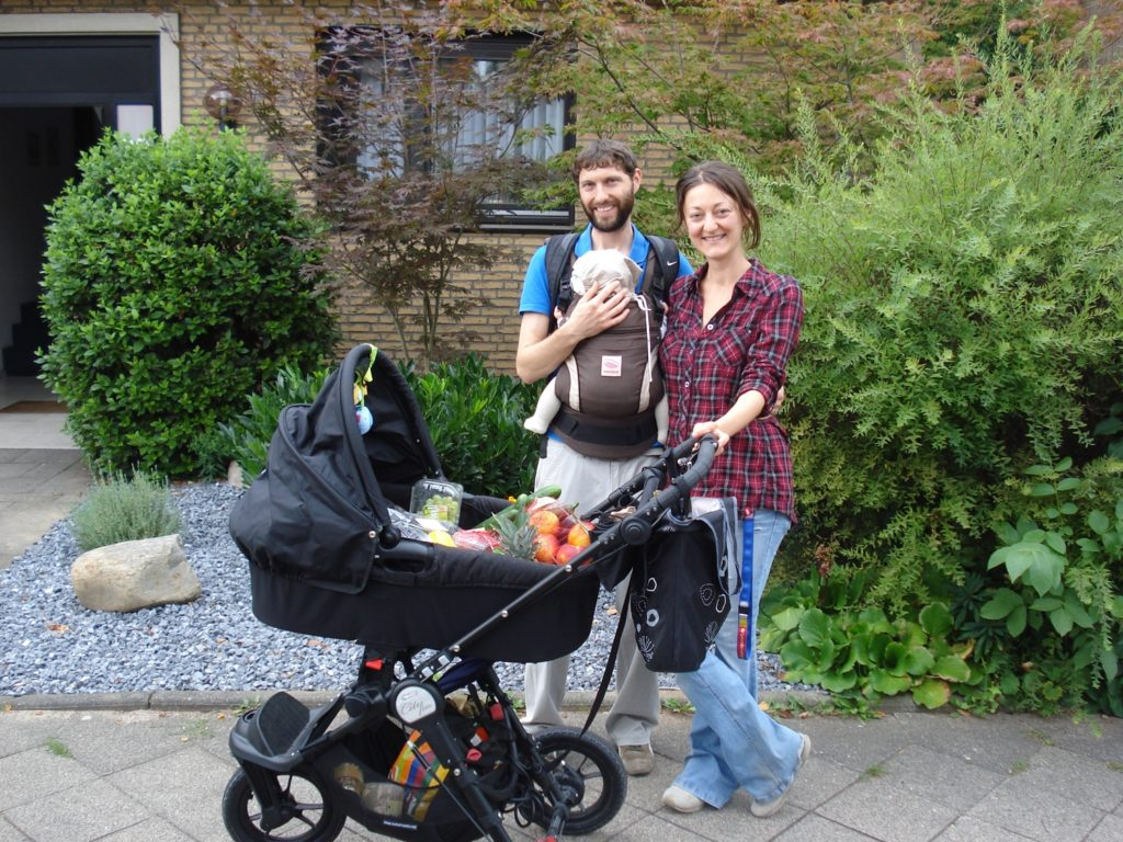 Kinderwagen Familienfoto